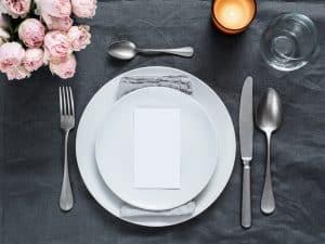 Beautiful wedding table setting mock up